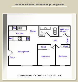 Sunrise Village - 2 Bedroom Small