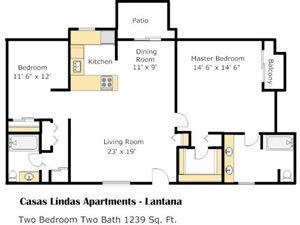 Lantana Floorplan at Casas Lindas Apartment Homes, AZ, 85704