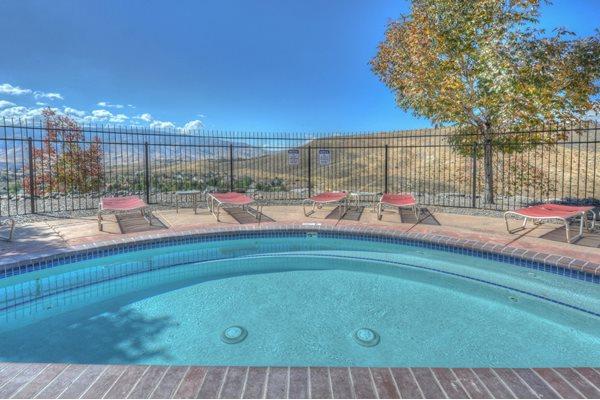 Pool Side Relaxing Area atManzanita Gate Apartment Homes, Reno, NV 89523