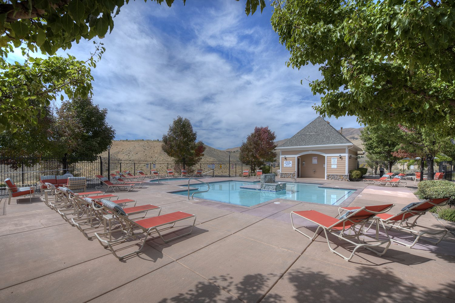 Sundeck around Pool at Manzanita Gate Apartment Homes, Reno, NV