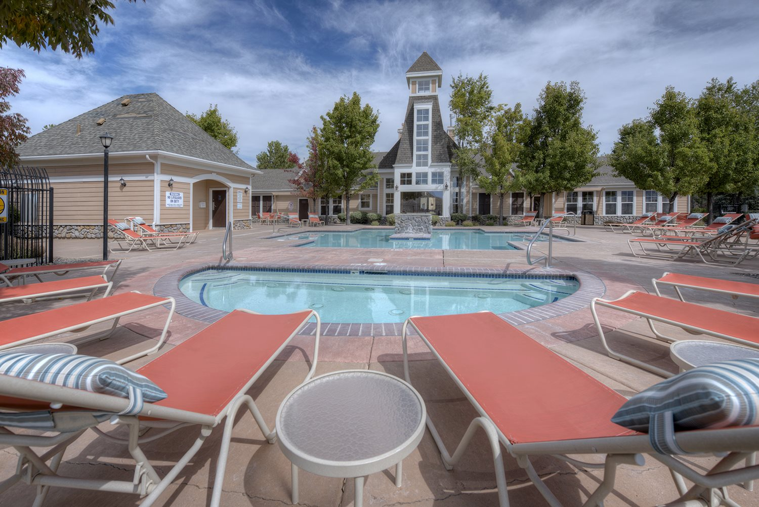 Poolside Lounge Chairs  at Manzanita Gate Apartment Homes, 2475 Robb Drive, NV