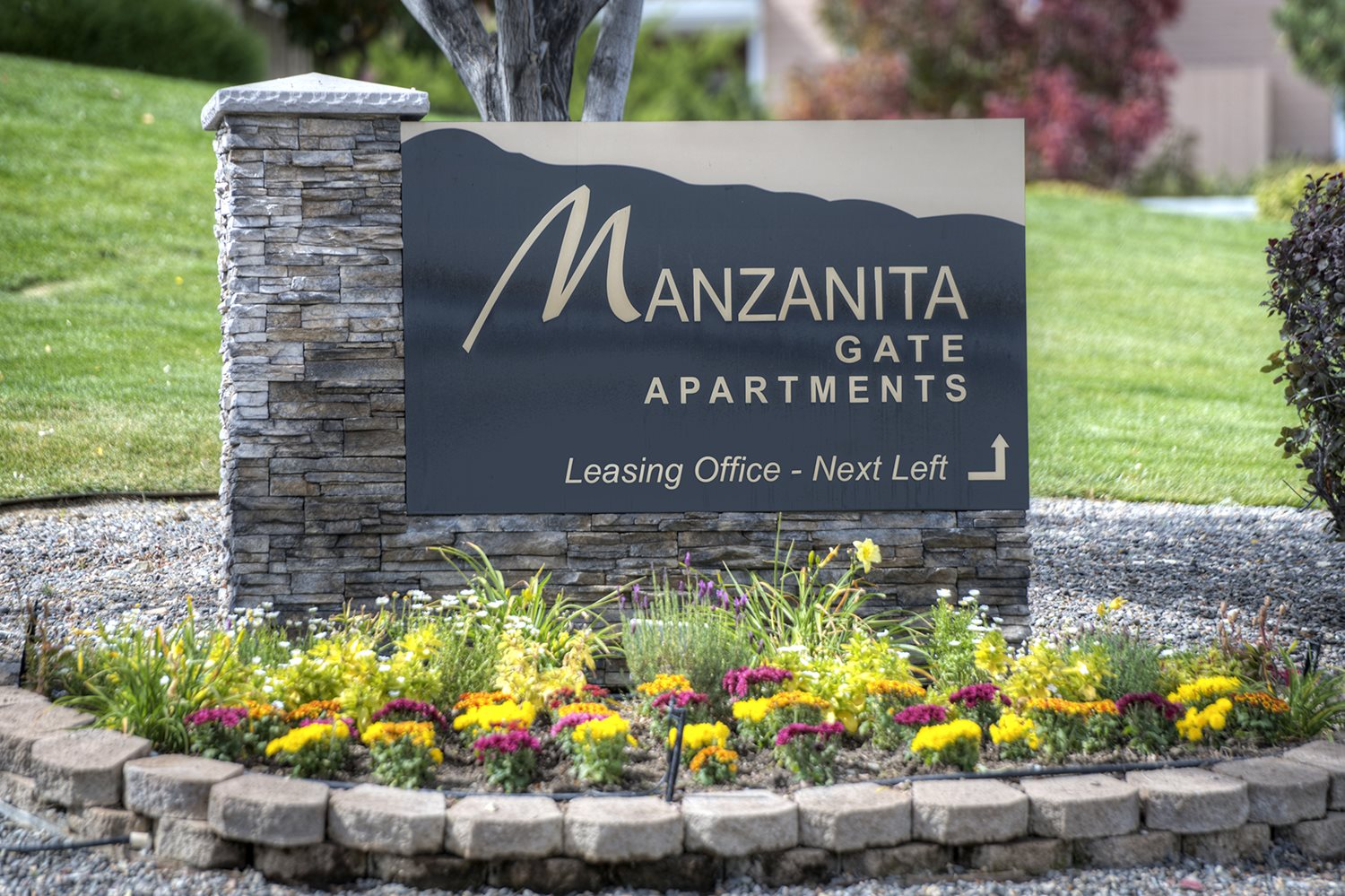 Manzanita Gate Apartments Sign at Manzanita Gate Apartment Homes, Reno, NV