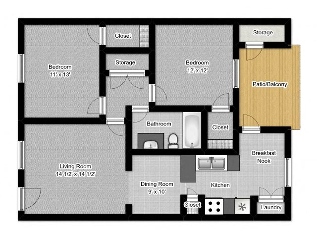 2 Bedroom A Floor Plan 3