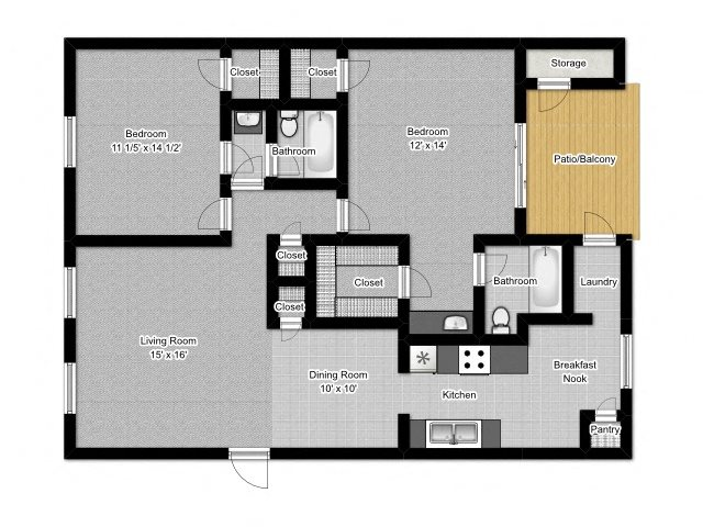 2 Bedroom C Floor Plan 5
