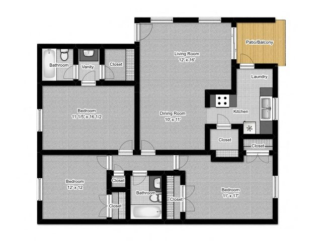 3 Bedroom A Floor Plan 6