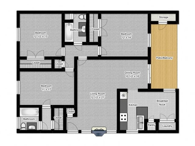 3 Bedroom B Floor Plan 7