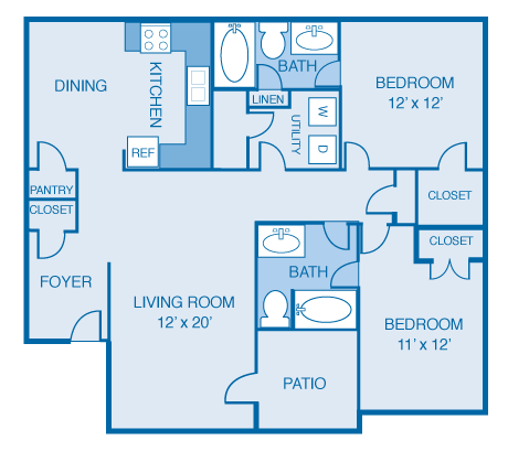 The Levee Floor Plan 4