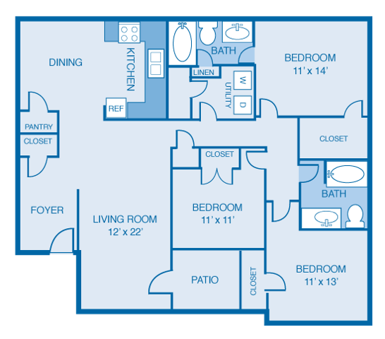 The Bayfront Floor Plan 6