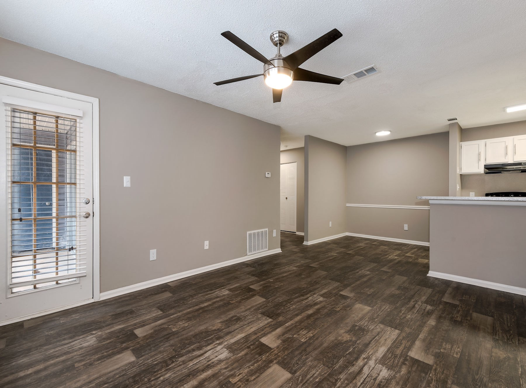 Model Living Area With Ceiling Fan
