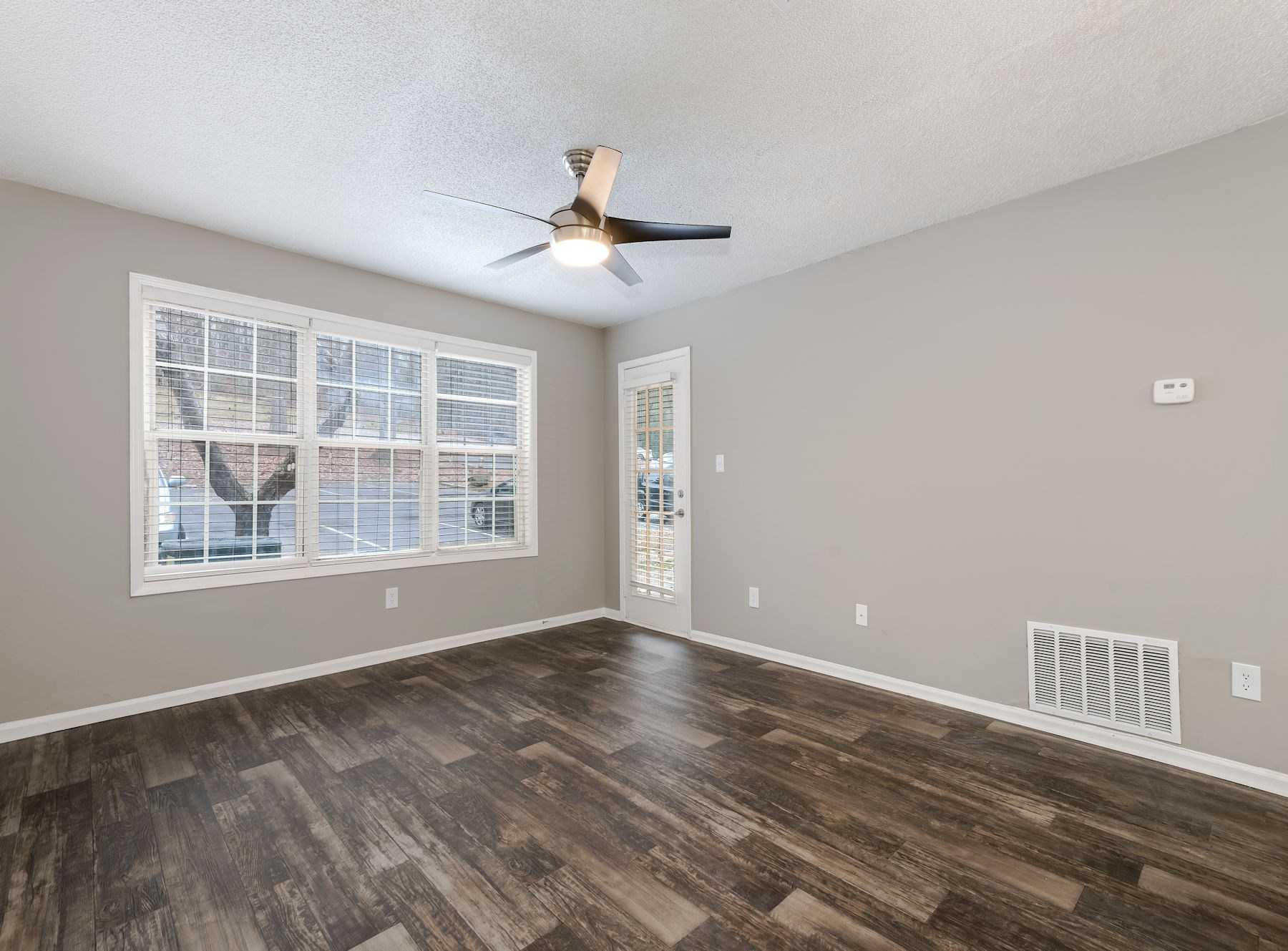 Model Living Area With Wood Style Flooring