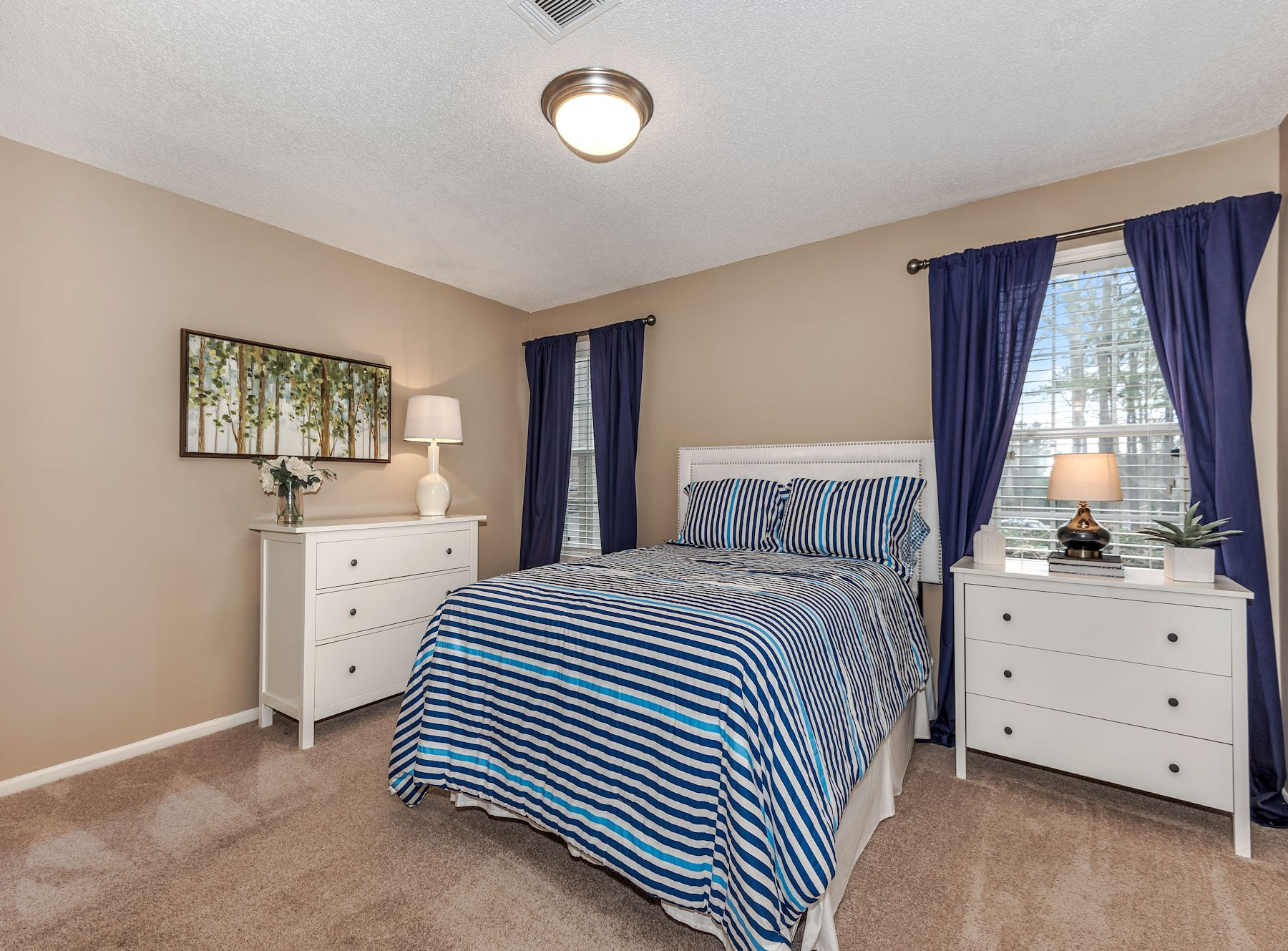 Model Bedroom With Carpet