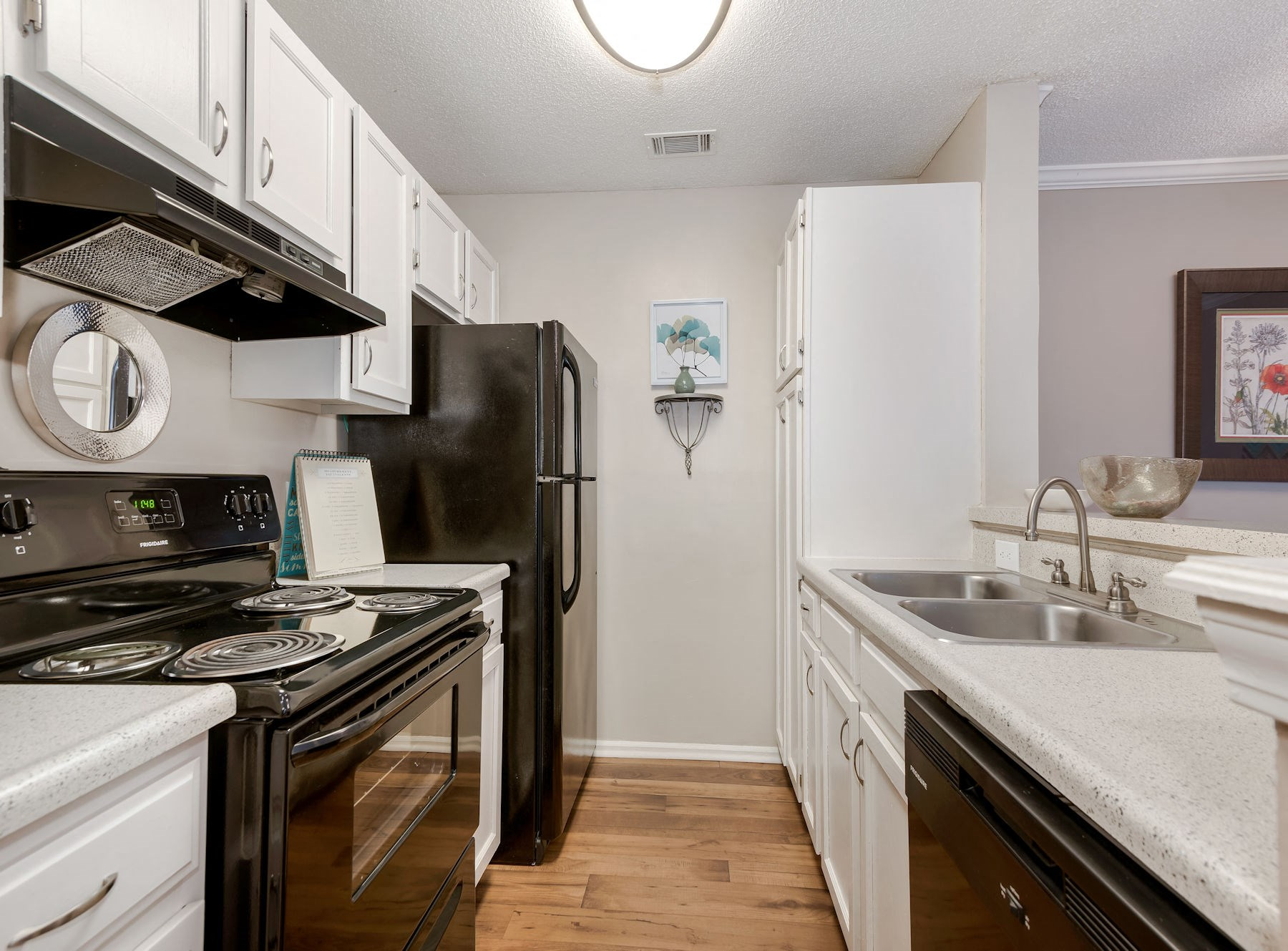 Model Kitchen With White Cabinets