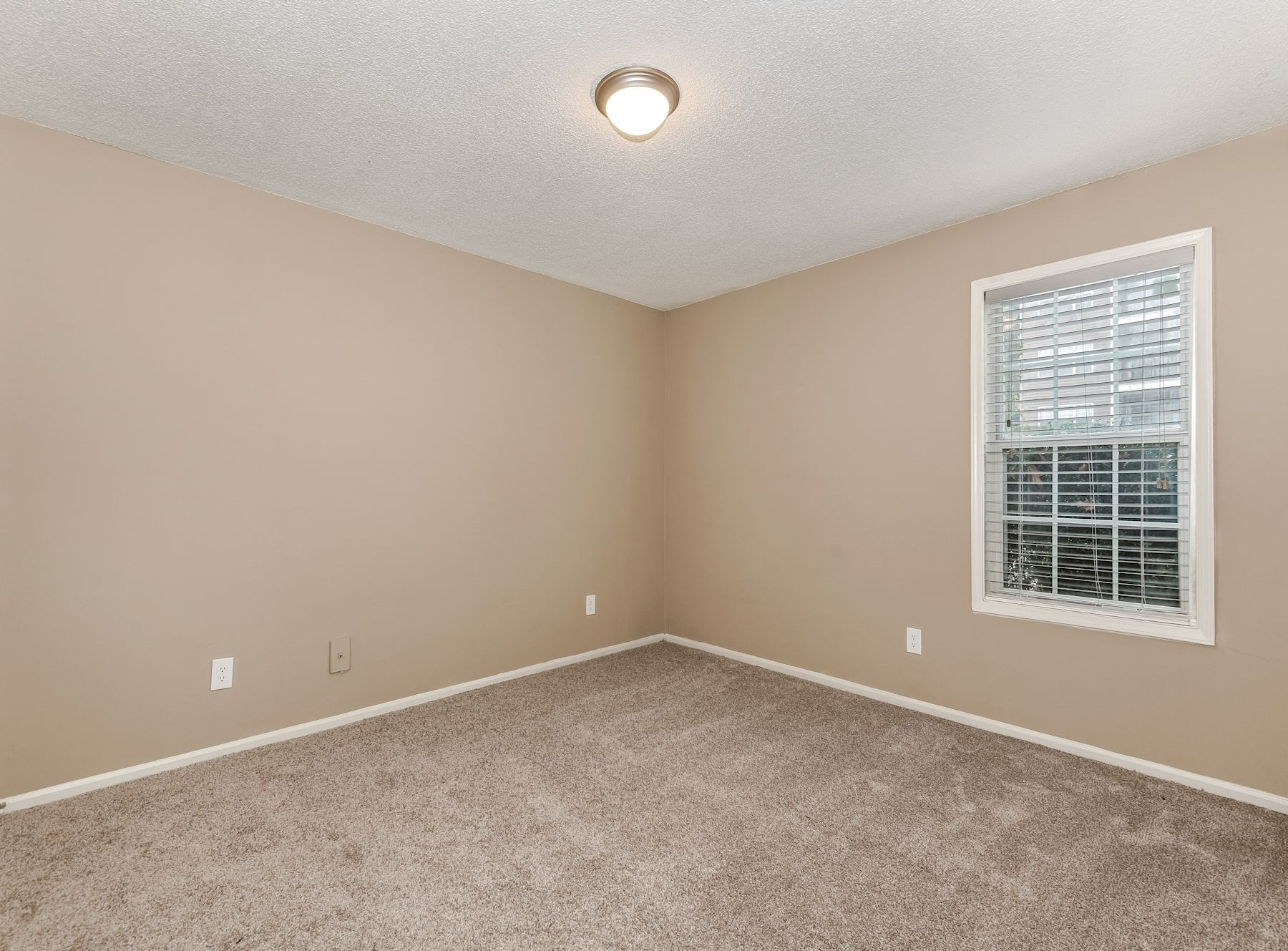 Model Bedroom With Carpet & Two Tone Paint