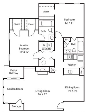 Two Bedroom Two Bathroom