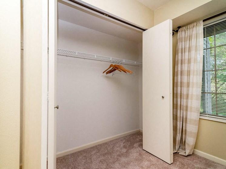 Bedroom Closet at River Oaks Apartments