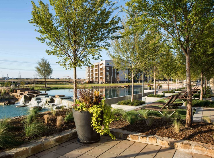 Beautiful Lakeside access at Discovery Apartments!