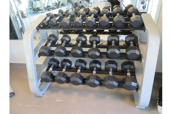 Free weights at Discovery at The Realm (Castle Hills), 3600 Windhaven Parkway, Lewisville, 75056