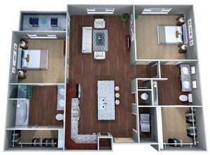 2 A Floor Plan, Two Bedroom, Discovery at the Realm (Castle Hills)