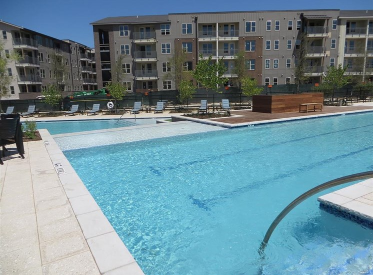 Large Resort style Swimming Pool at Discovery at The Realm (Castle Hills), Lewisville, Texas
