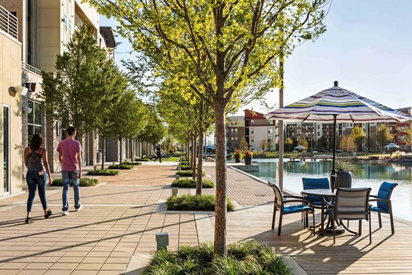 Walkway by lake at Discovery at The Realm (Castle Hills), 3600 Windhaven Parkway, Lewisville, TX 75056