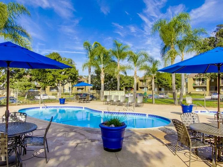 Mesa Village Apartments Lifestyle - Pool Deck & Pool