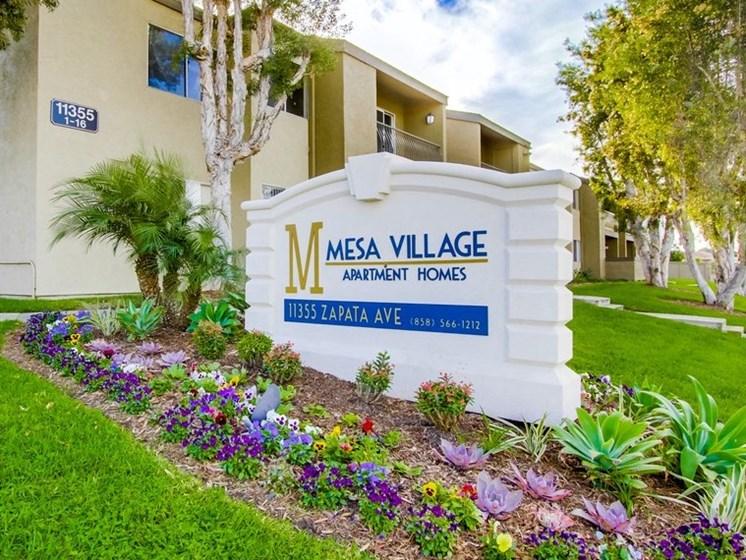 Mesa Village Apartments Exterior Front Sign