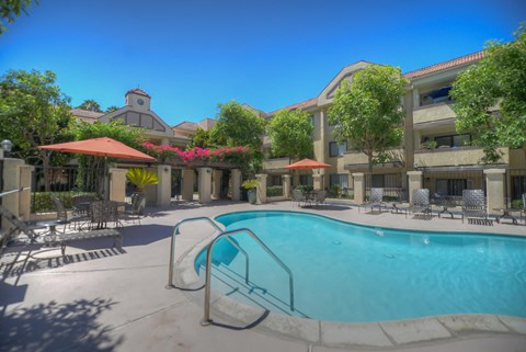 Casa Grande Senior Apartment Homes Lifestyle - Pool Deck & Pool