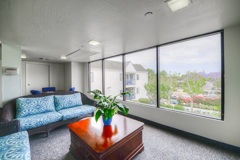 Casa Pacifica Senior Apartment Homes Lifestyle - Indoor Lounge Area 3rd Floor