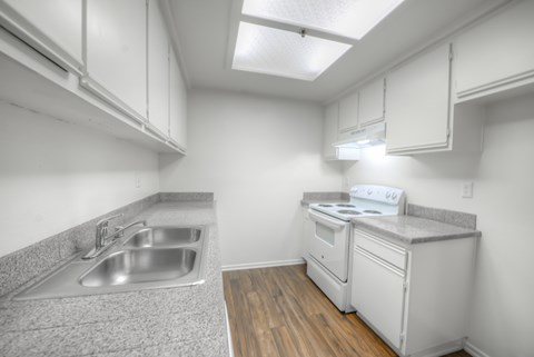 Casa Pacifica Senior Apartment Homes Empty Apartment Kitchen