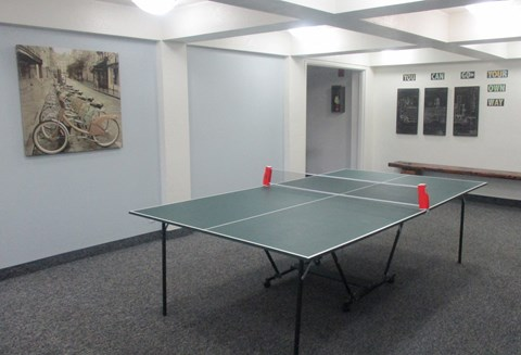 Casa Pacifica Senior Apartment Homes Lifestyle - Game Area Ping Pong Table