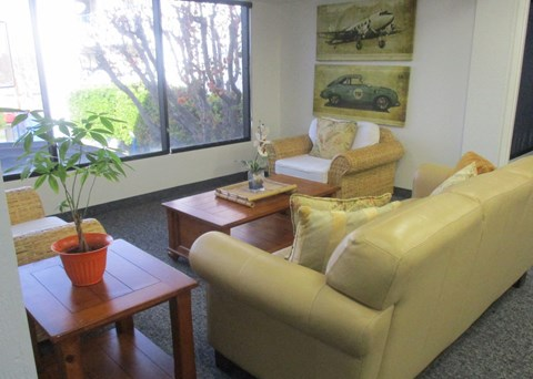 Casa Pacifica Senior Apartment Homes Lifestyle - Indoor Lounge Area 2nd Floor