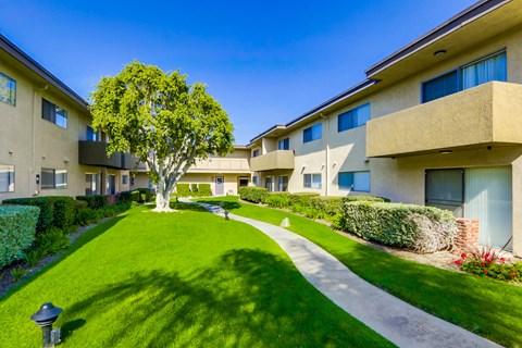 Cypress Park Apartments Walkway