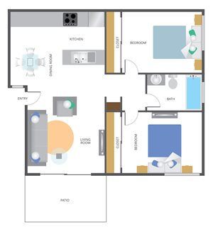 Park San Dimas 2 Bedroom 1 bathroom