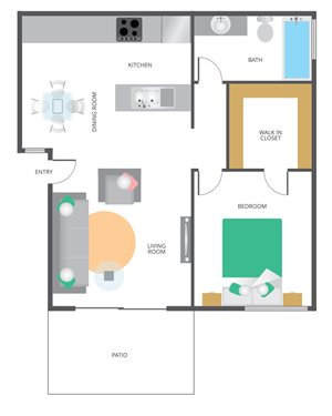 Park San Dimas 1 Bedroom 1 bathroom