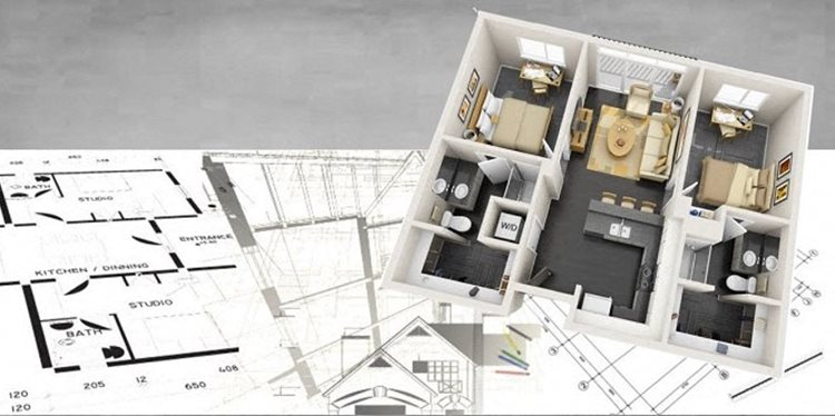 2D 3D plan overlay for apt for rent in Dallas, TX