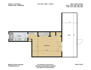 7130 Gaston VERANDAS - PINOT (STUDIO - 1 Bath)