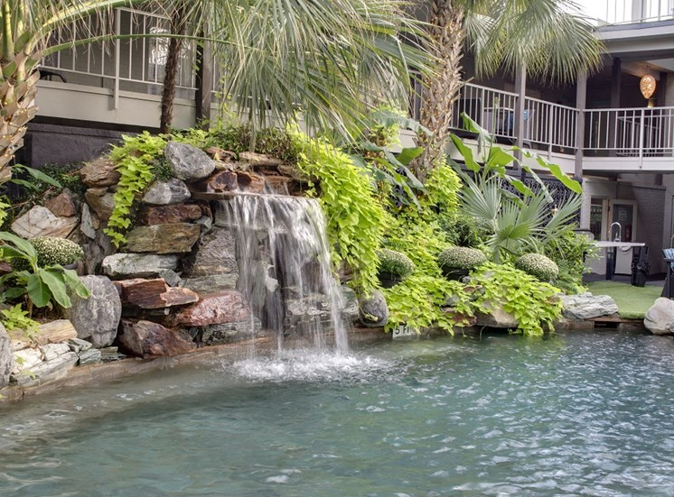 5400 Live Oak - LE PARC Courtyard pool waterfall