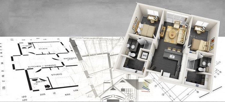 2D and 3D floorplan with overlay