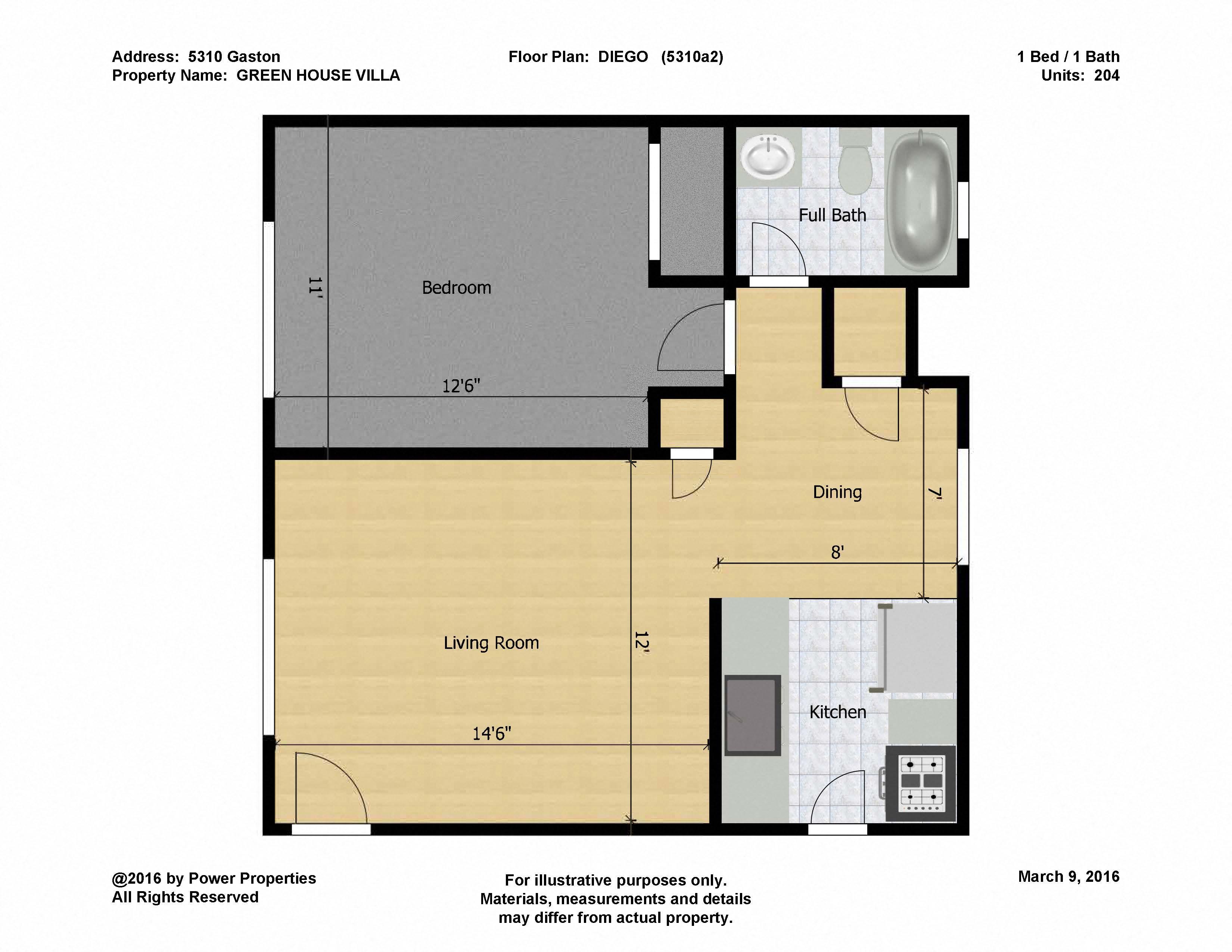 Floor Plans of GREEN HOUSE VILLA in Dallas TX – Green House Floor Plans