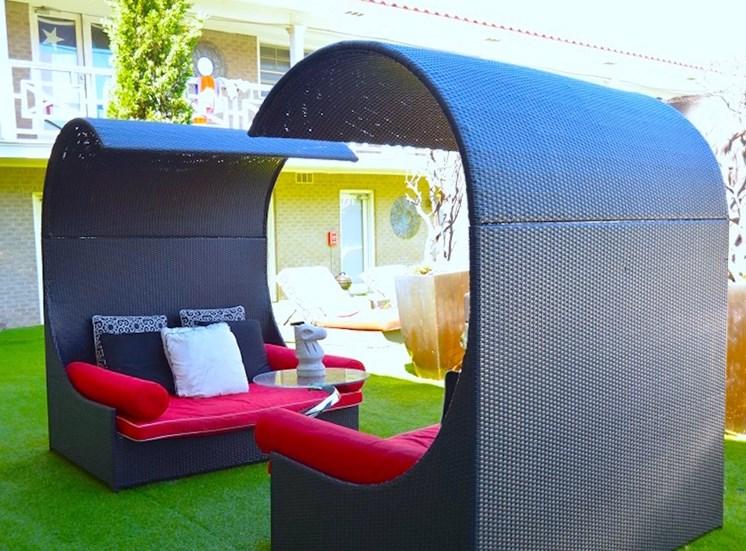 5121 Gaston Garden Villa Lounge Cabanas