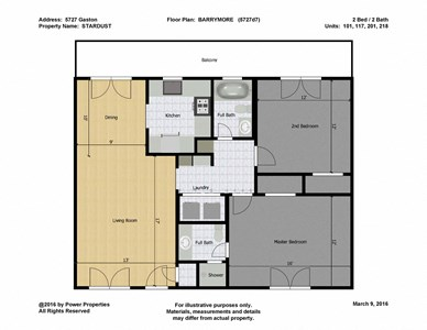 5727 Gaston STARDUST - BARRYMORE (2 Bed - 2 Bath)