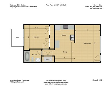 5200 Gaston GREEN HOUSE FLATS - VIOLET (1 Bed - 1 Bath)