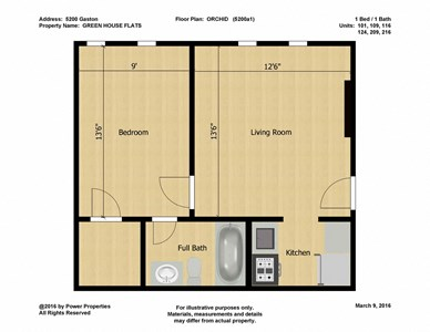 5200 Gaston GREEN HOUSE FLATS -ORCHID (1 Bed - 1 Bath)
