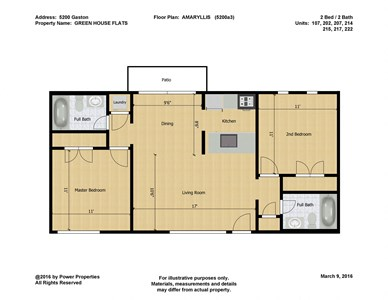 5200 Gaston GREEN HOUSE FLATS- AMARYLLIS (2 Bed - 2 Bath)=