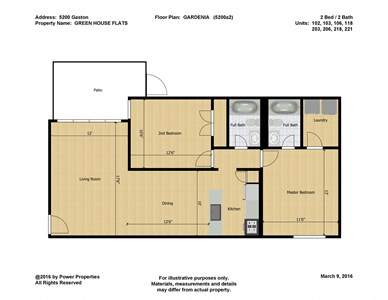 5200 Gaston GREEN HOUSE FLATS- GARDENIA (2 Bed - 2 Bath)