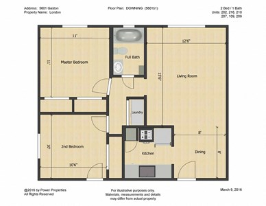 5601 Gaston - LONDON - DOWNING (2 Bed - 1 Bath)