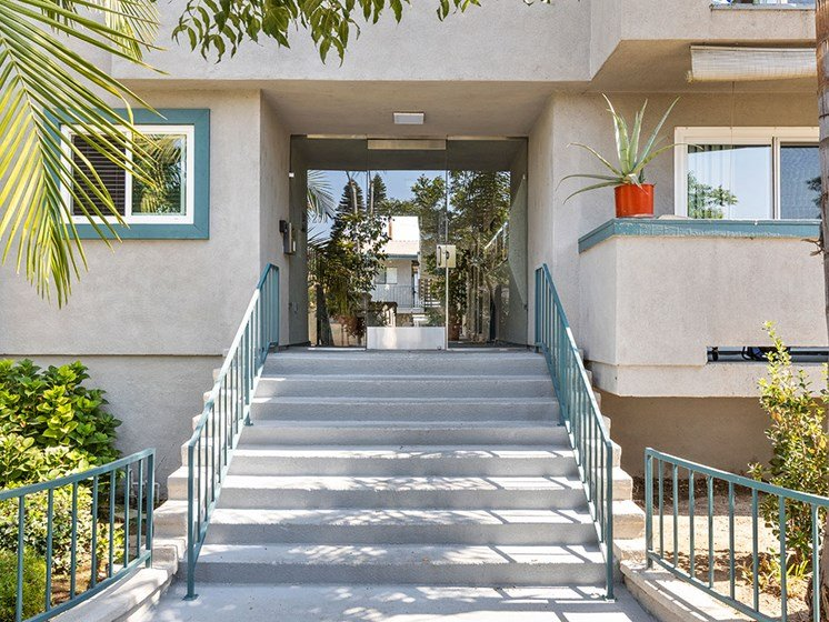 Front Door and Steps for Elmwood Gardens Apartments in Burbank, CA