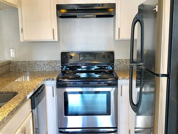 Efficient Appliances In Kitchen at City Park View, California, 90057