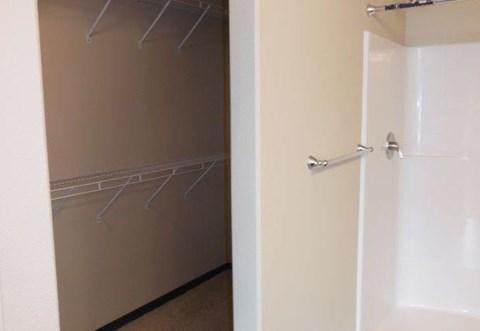 bathroom, closet