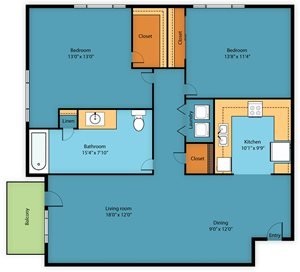 Apartment Floor Plan 2
